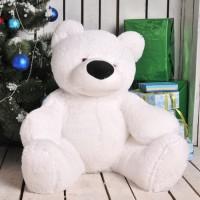 """Белый плюшевый медведь """"Умка"""" 100 см"""