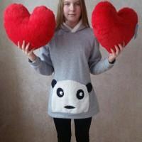 Сердце в виде подушки 37 см