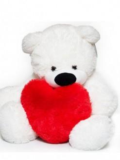 """Белый плюшевый медведь """"Умка"""" 50 см"""